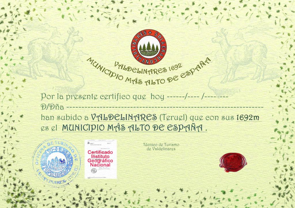 Certificado de altitud