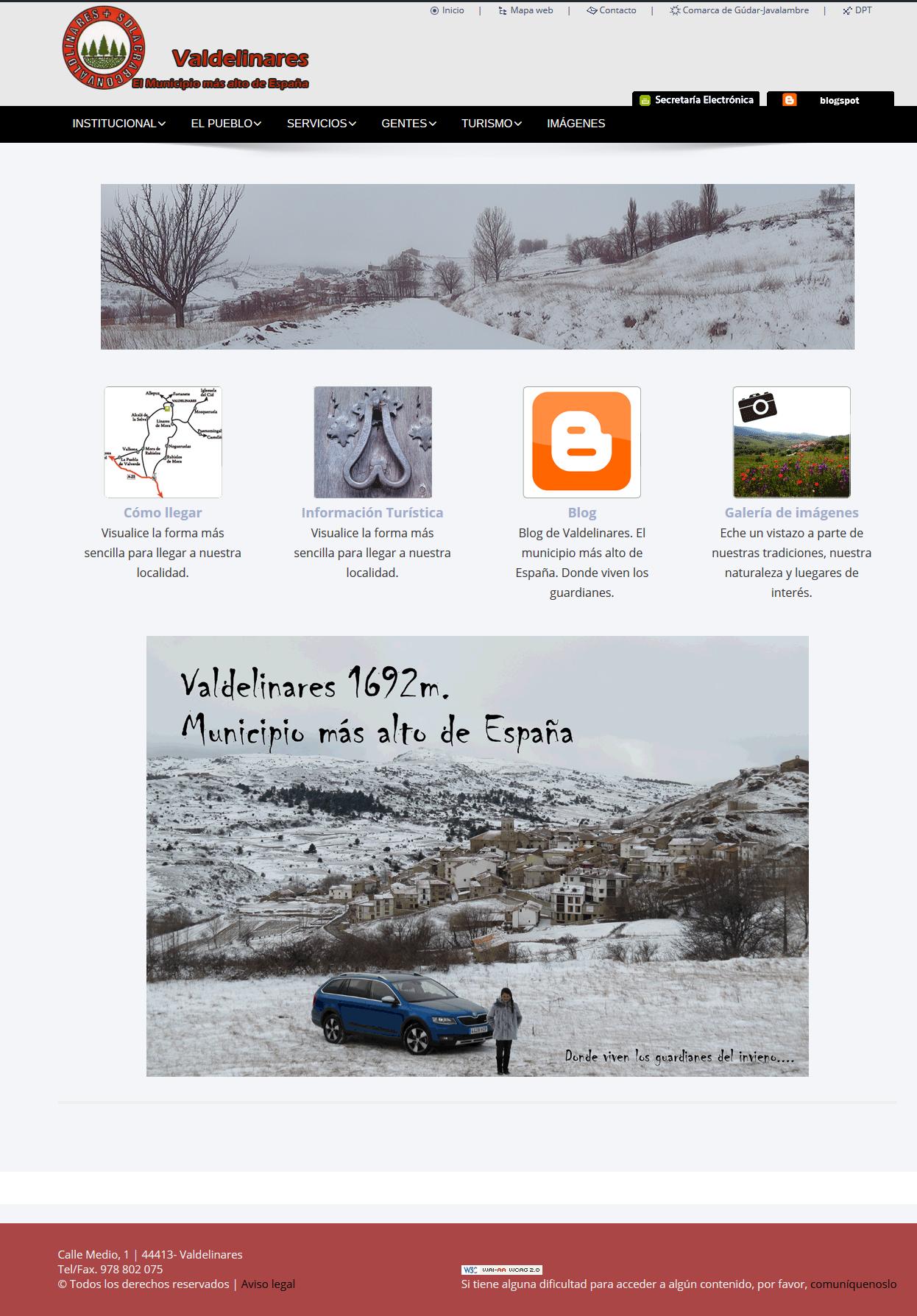 Nueva imagen de la web de Valdelinares
